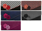 NEW Ruby Shoo Cairo Corsage Clutch Black White Navy Plum Grey Brown April