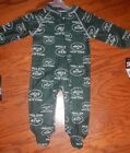 New York Jets NFL  Newborn Infant Full Zip Footed Pajama Sleeper Coverall