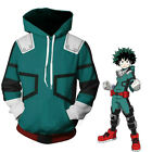 My Hero Academia Boku Izuku Midoriya Cosplay Costume Halloween Jacket Hoodie NEW