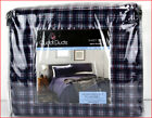 Cuddl Duds Heavy Weight 100% Cotton FLANNEL Sheet Set - Navy Blue Plaid 🌟NEW🌟 image