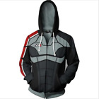 Game M.E Cosplay Link Zipper Hooded Sweater Jacket Costume Adult Coat  Fashion