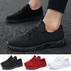 US Mens Running Trainers Lace Up Flat Comfy Fitness Gym Sports Shoes Sneake Hot