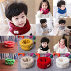 Внешний вид - Child Kids Girl Boy Scarf Wrap Warm Winter O-ring Knitted Baby Scarf Neck Warmer