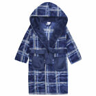 Boys Dressing Gown Hooded Plush Flannel Fleece 7-8 years up to 13 Years