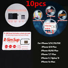 10Pcs RSIM Sup R-SIM Nano Unlock Card Fits For iPhone XR XS X/8/7/6/6s 4G Ios 12
