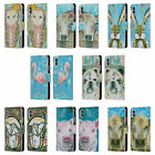 OFFICIAL AMANDA HILBURN ANIMALS LEATHER BOOK WALLET CASE FOR APPLE iPHONE PHONES