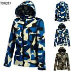 New Fashion Women Camouflage Long Sleeve Lightweight Hooded Shell Jacket T9G1
