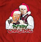 TRUMP AND PUTIN FUNNY MERRY CHRISTMAS *OLDSKOOL Men T-Shirt *FULL FRONT*
