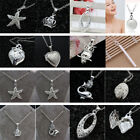 925 Silver Filled Necklace Cat Crown Shape Pendant Weddiing Party Women Jewelry