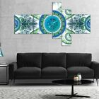 Designart 'Blue Psychedelic Relaxing Art' Abstract Canvas Art Print