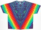 Adult S/S TIE DYE Rainbow V Blotter plus size T Shirt art 5X 6X hippie trippy