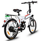 """Ancheer 20"""" Folding Electric Mountain Bike City Bicycle Ebike W/Lithium Battery"""