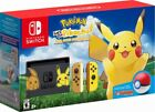 NEW Nintendo Switch Pikachu or Eevee Pokemon Console + Exclusive Artwork Bundle
