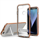 Google Pixel 3 & 3 XL Clear Hybrid Hard Kickstand Case Phone Cover Accessory
