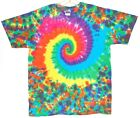 Adult TIE DYE Neon Spiral Blotter T Shirt art 5X 6X hippie grateful dead art