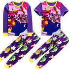 Kids Boys Girls Baby Shark Pajamas Nightwear Sleepwear PJS Set for 3-10Y