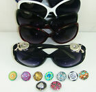 Unisex NOOSA DIY Button Sunglasses For Outdoor Sports Glasses gift wholesale