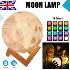 Rechargeable 3D Luna Night Light Moon Lamp 2 Color Change Touch Switch 10-20cm