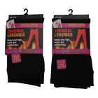 Women's Thermal Leggings Polar Extreme Insulated Black Polyester Fleece Lined
