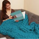 US Large Sofa Chunky Knit Yarn Warm Blanket Thick Bulky Knitted Throw Home Decor image