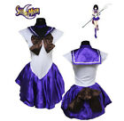 Anime Sailor Moon Cosplay Costume Uniform Fancy Party Dress with Gloves