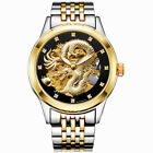 3D Dragon Skeleton Automatic Mechanical Watches Men Wrist Watch Stainless Steel image