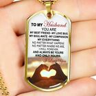 To My Husband Dog Tag Military From Wife - Love Gifts For Men Fiance Boyfriend