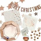 Ginger Ray Christmas Wedding Metallic Star Rose Gold Partyware Napkin Set Lot