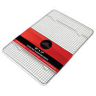 Stainless Steel Baking & Cooling Wire Rack Jelly Roll Cookie Sheet Oven Pan