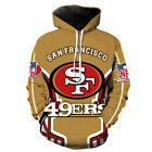 San Francisco 49ers Hoodie SF NFL Football Hooded Sweatshirt Pullover on eBay