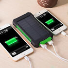 Solar Power Bank 50000mAh 2USB LED External Battery Charger for iPhone X Samsung