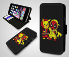 Deadpool Baby Groot Guardians Of The Galaxy Leather Wallet Flip Phone Case Cover