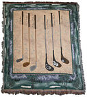 Golf Clubs Tapestry Throw