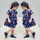 Toddler Baby Girls Floral Kids Party Beachwear Dresse Outfits Sundress B2 Lot