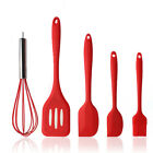 Cookward kitchen Utensil Set (6 pcs) Silicone & Wood Cooking Tools serving spoon