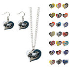 New 3pc NFL Pick Your Team Swirl Heart Necklace and Earring Fashion Jewelry Set $13.49 USD on eBay
