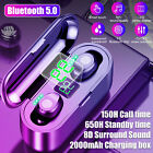 Wireless Bluetooth Earbuds Headset Noise Cancelling Earphones For iPhone Samsung