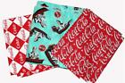 Coca Cola Fountain * Argyle* Script 2000's Fabric Very Nice Quality BTY OOP HTF $23.99  on eBay