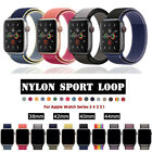Nylon Woven Sport Loop Bracelet Watch Band Strap For Apple iWatch series 4 3 2 1 image