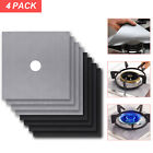 4pcs Gas Range Stove Top Burner Cover Protector Reusable Non-stick Cover US