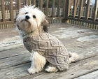 Ethical Pet Dog FISHERMAN KNIT SWEATER Taupe XS- XXL