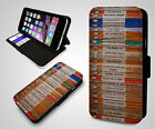 Vintage Penguin Books Front Page Collage Print Retro Leather Phone Case Cover