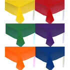 (6) Solid Colors Rectangle Plastic Table Covers Tablecloths Party Tablecovers