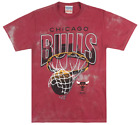 CHICAGO BULLS WINDY CITY BASKETBALL T-SHIRT NBA BLEACHED RED MENS JUNK FOOD TEE