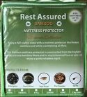 Mattress Protector Waterproof Bamboo Fibers Soft Hypoallergenic Fitted Pad Cover image