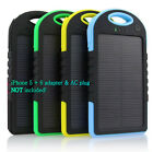 5000 mah Dual-USB Waterproof Solar Power Bank Battery Charger for Stall Phone