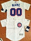 Chicago Cubs Majestic MLB Kids 4 7 Replica Jersey add any name