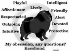 Keeshond Dog Obsession,Questions? T-shirt ,LS, or Sweatshirt