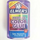 Elmer's Washable Translucent Glue, 5 Ounces, Great for Making Slim Green/Purple
