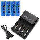 USA 3000mAh 18650 Li-ion 3.7V  Rechargeable Flat Top Batteries with Charger